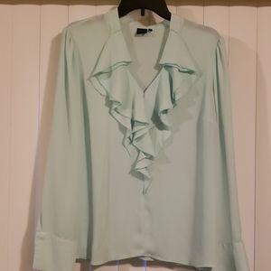 Mint green blouse